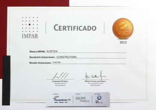 Kürten está entre as empresas vencedoras do Prêmio IMPAR em Curitiba